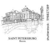 saint petersburg  russia  view...   Shutterstock .eps vector #598827389
