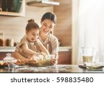 happy loving family are... | Shutterstock . vector #598835480