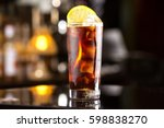 rum cola casual cocktail with... | Shutterstock . vector #598838270