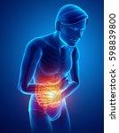 3d illustration of male feeling ...   Shutterstock . vector #598839800