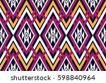 geometric ethnic pattern... | Shutterstock .eps vector #598840964