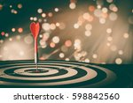 target hit in the center by... | Shutterstock . vector #598842560