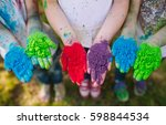 hands   palms of young people... | Shutterstock . vector #598844534