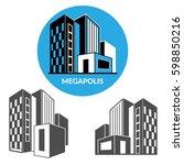 set of vector icons of modern... | Shutterstock .eps vector #598850216