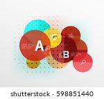 circle modern geometry... | Shutterstock .eps vector #598851440