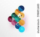 circle modern geometry... | Shutterstock .eps vector #598851683