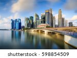 singapore skyline and view of... | Shutterstock . vector #598854509