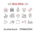 bulimia. symptoms  treatment.... | Shutterstock .eps vector #598860584