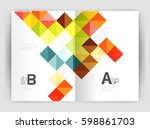 square annual report brochure... | Shutterstock .eps vector #598861703