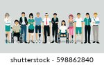 people who have suffered an... | Shutterstock .eps vector #598862840