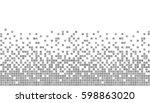 gray and white pixel background....   Shutterstock .eps vector #598863020