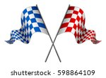 racing flag | Shutterstock .eps vector #598864109