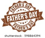 father's day. stamp. sticker.... | Shutterstock .eps vector #598864394
