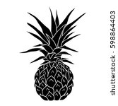 pineapple   vector  illustration | Shutterstock .eps vector #598864403