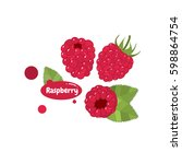 raspberry vector | Shutterstock .eps vector #598864754