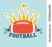 American Football Ball And...