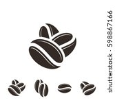 coffee. icon set. isolated... | Shutterstock .eps vector #598867166