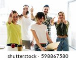 team of young marketing... | Shutterstock . vector #598867580