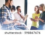 a group of web designers and...   Shutterstock . vector #598867676