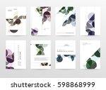 memphis geometric background... | Shutterstock .eps vector #598868999