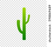 cactus simple sign. vector.... | Shutterstock .eps vector #598869689