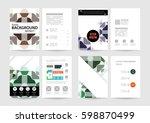 memphis geometric background... | Shutterstock .eps vector #598870499