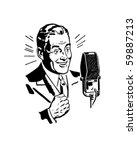 radio announcer 2   retro clip... | Shutterstock .eps vector #59887213