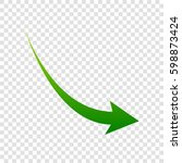 declining arrow sign. vector....