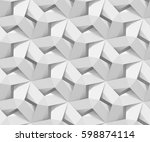 white shaded abstract geometric ... | Shutterstock . vector #598874114