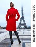 bright in paris. seen from... | Shutterstock . vector #598877930