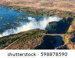the victoria falls is the... | Shutterstock . vector #598878590
