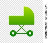 pram sign illustration. vector. ...