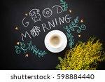 morning spring still life with... | Shutterstock . vector #598884440