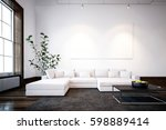 large spacious modern... | Shutterstock . vector #598889414