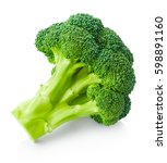 fresh broccoli isolated on... | Shutterstock . vector #598891160