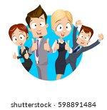vector illustration of group of ... | Shutterstock .eps vector #598891484