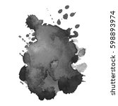 abstract watercolor grayscale... | Shutterstock .eps vector #598893974