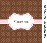 Brown And Pink Vintage Card ...
