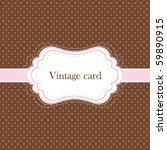 Brown And Pink Vintage Card ...