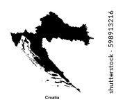 Vector map of Croatia - Free vector image in AI and EPS format.