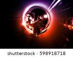 pipe welding on the pipeline... | Shutterstock . vector #598918718