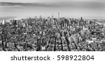 aerial view of new york city... | Shutterstock . vector #598922804