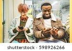 multiracial hipster friends...   Shutterstock . vector #598926266
