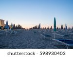 deserted beach in the morning... | Shutterstock . vector #598930403