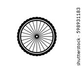 bicycle wheel vector icon | Shutterstock .eps vector #598931183
