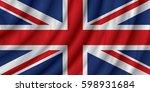 united kingdom flag vector... | Shutterstock .eps vector #598931684