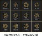 geometric linear logo template... | Shutterstock .eps vector #598932920