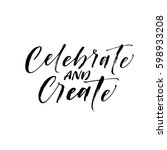 celebrate and create postcard.... | Shutterstock .eps vector #598933208