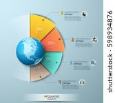 infographic design template.... | Shutterstock .eps vector #598934876