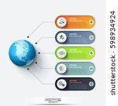 modern infographic design... | Shutterstock .eps vector #598934924